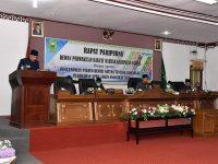 DPRD dan Pemkab Natuna Menggelar Rapat Paripurna Rancangan Perubahan APBD Tahun Anggaran 2020