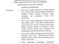 Inilah Surat Peraturan Wali Kota Tanjungpinang Terkait Penerapan Disiplin Protokol Kesehatan