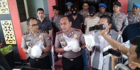 SATRES Narkoba Polres Tanjungpinang Menorehkan Prestasi Berhasil Bekuk Dua Kurir Narkoba