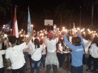 Aksi Solidaritas belasungkawa, ratusan pemuda Tanjungpinang nyalakan Lilin