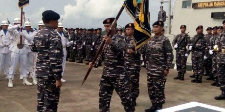 Pangarmabar Pimpin Upacara Sertijab Dua Perwira Komando Armada I