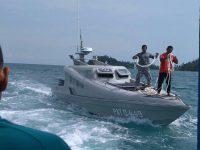 Lantamal IV Kerahkan Dua Patkamla SAR Kapal Tenggelam Di Tanjung Kelit