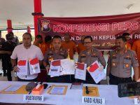 Polres Tanjungpinang Berhasil Ungkap Tindak Pidana Korupsi Pekerjaan Lanjutan Pembangunan fasilitas Pelabuhan Laut Dompak