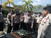 Pamen Mabes Polri Cek Sistem Keamanan Masyarakat di Polres Tanjungpinang