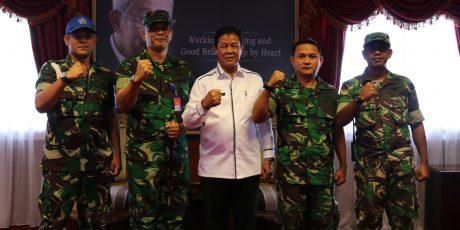 Danlanud RHF Silaturahmi Ke Airnav dan Kantor Gubernur Kepri