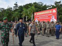Polres Tanjungpinang Gelar Apel Pasukan Operasi Lilin Pengamanan Natal dan Tahun Baru, Diiringi Pemusnahan Barang Hasil KRYD Tahun 2019