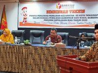 Bawaslu Kota Tanjungpinang Adakan Bimtek Pengawasan Bagi Panwascam