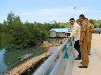 Bupati Bintan Meninjau Jembatam Penghubung Kampung Kemalai dan Kampung Belak