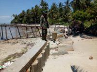 Berdalih Penyebab Faktor Alam, Bangunan Batu Miring Pulau Lalang Ambruk