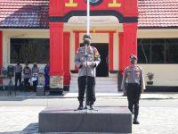 Kapolres Lingga AKBP Boy Herlambang Pimpin Apel dalam Rangka Menuju New Normal