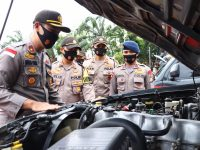 Jelang Operasi Mantap Praja, Wakapolres Karimun Cek Kelengkapan Kendaraan Dinas