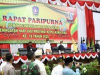 DPRD Kepri Bersama Pemprov Menggelar Paripurna Hari Jadi Provinsi Kepri Ke-18