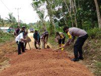 Polsek Singkep Barat Lakukan Goro di Desa Pesiapan Air Batu Kecaman Singkep Barat