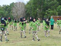 Persit Katika Chandra Kirana Koorcab Rem 033 PD I Bukit Barisan Menggelar Olahraga Bersama dan Rapid Test Covid-19