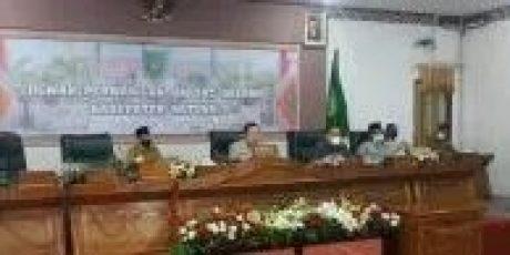 DPRD Natuna Menggelar Rapat Paripurna Penetapan Bupati dan Wakil Bupati