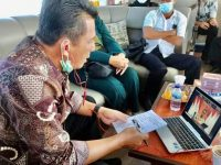 Lapor Perkembangan JBB, Gubernur Ansar Ahmad Vicon Bersama Menko LBP Di Atas Laut