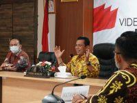 Rapat Daring Bersama Dirut BAKTI, Gubernur Gesa Pembangunan 35 Titik BTS di Kepri