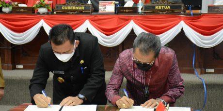 DPRD Kepri Menggelar Rapat Paripurna Agenda Penandatanganan Nota Kesepakatan RPJMD Tahun 2021-2026