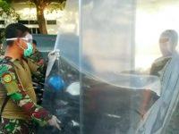 Antisipasi Covid-19 di Mako Lanudal Tanjungpinang Sarankan Melalui Gerbang Sterilisasi untuk Melakukan Penyemprotan Disinfektan