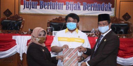 DPRD Tanjungpinang Menggelar Rapat Paripurna Ranperda Tentang Perubahan APBD Tahun Anggaran 2020
