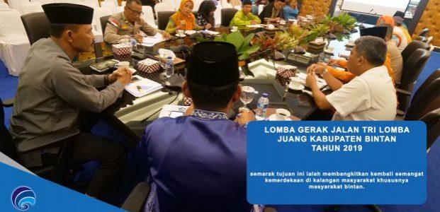 Guna Menyemarakan HUT-73, Pemkap Bintan Menggelar Rapat Dalam Rangka Persiapan lomba Gerak Jalan Tri Lomba Juang