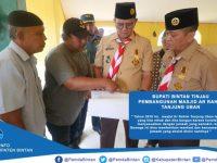 Bupati dan Wabup Bintan Tinjau Pembangunan Masjid Ar Rahim Tanjung Uban